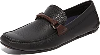 Granprix Mens Brown Leather Loafers Made in Italy