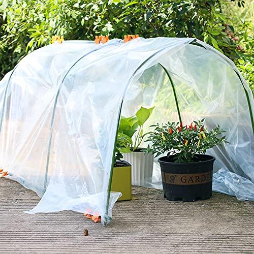 Kslogin Película de invernadero de plástico transparente, cubierta de la planta del jardín del invernadero del polietileno de alta calidad, protección contra la lluvia y las heladas
