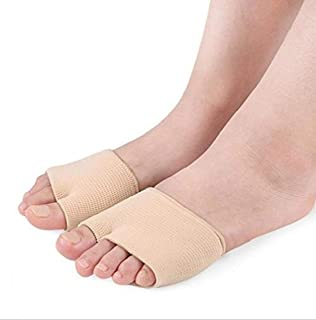 Purastep Gel Metatarsal Head Morton Neuromas Atrophy Flat Pad Splay Foot Corn Feet Pressure Relief Care Sleeve with Insole...