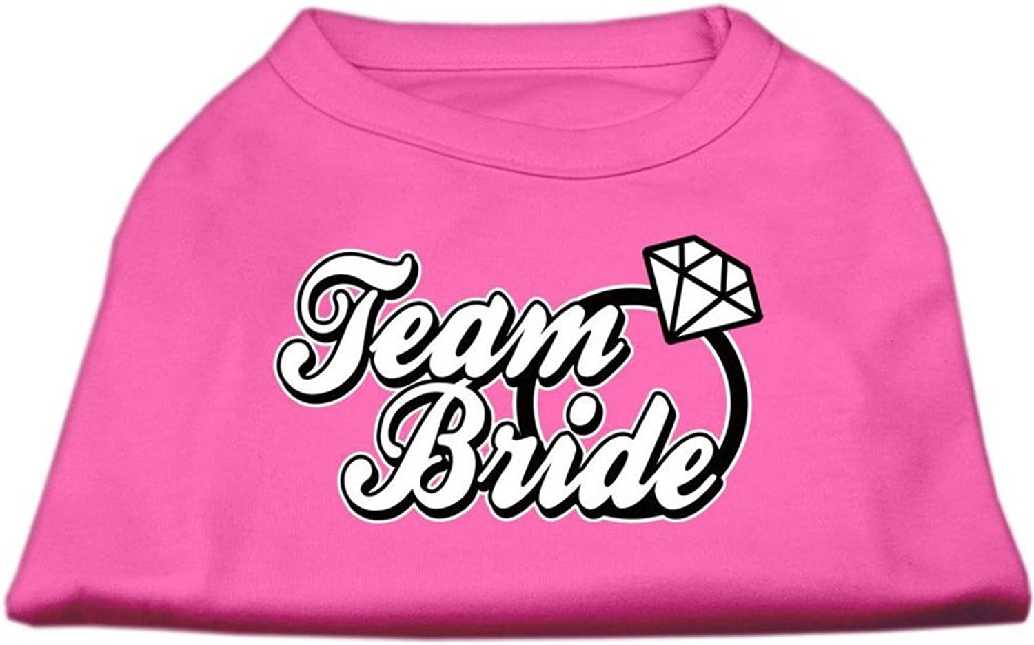 Mirage Pet Products 12Inch Team Bride Screen Print Shirt for Pets, Medium, Bright Pink