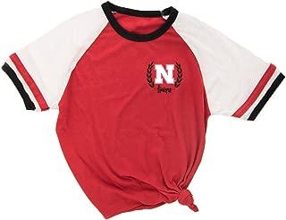 Love Red Boutique Nebraska Huskers Tee Shirt - Iron 'N' Wreath Ringer Tee