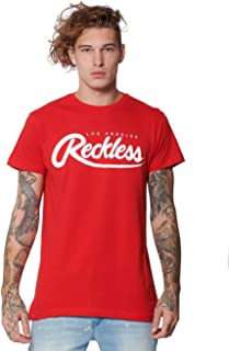Young and Reckless - Big R Script Tee- Red - - Mens - Tops - Graphic Tee -