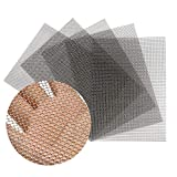 FAYERXL 5PACK Stainless Woven Wire Mesh,Air Vent Mesh 11.8'X8.2'(300X 210mm),Hard and Heat Resisting Screen Metal Mesh Sheet,1.94mm Hole 10 Mesh Easy to Cut