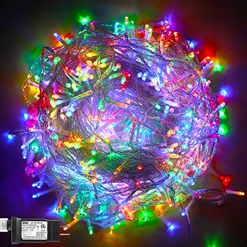 500 LED Christmas Lights String Lights, Twinkling Hanging Lights Multicolor Plug in Fairy Light for Party, Bar, Xmas, Teen Girls Bedroom Decor-173.9ft(Colorful)