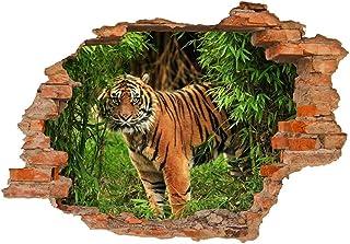 FFAA Etiqueta de la Pared Tigre en la Jungla - Agujero en la Etiqueta de la Pared habitación de los niños Etiqueta de la h...