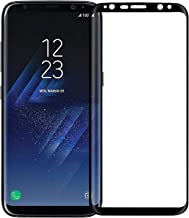 Frazil Full Coverage Edge-to-Edge 5D Tempered Glass Screen Protector for Samsung Galaxy S8+ Plus (Black)