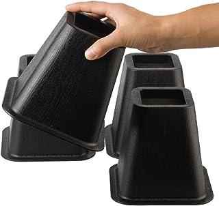 Uping テーブル・ ベッドの高さ調節が簡単にできる ベッドの高さをあげる足 4個セット 高さを上げる 高さ調節脚 こたつ 継足し 継ぎ足 テーブル脚台 高さ調整 暖房器具 (耐荷重544kg) ブラック