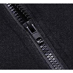 VERYCO Women Hoodie Jacket Gothic Casual Hooded Zip Up Long Sleeve Sweatshirt Top (Black (Print), UK 12 / Tag XL) #5