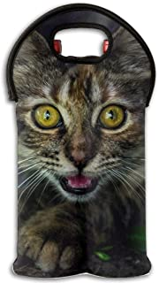 Persian Cat Eyes Wine/Water Two Bottles Tote Full Printed Portable Bag