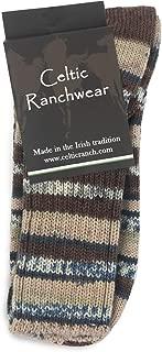 Irish Wool Fair Isle Sock in Regular Crew Length, Fun Colorful Patterns Made in Ireland