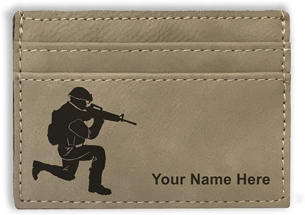 National Manufacturer regenerated product products Money Clip Wallet Military Engraving Soldier Incl Personalized