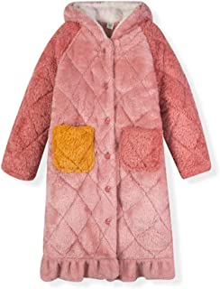 LLSS Pijamas de Albornoz para niños Bata de Franela para niñas Pijamas Ropa de hogar de Felpa Gruesa Ropa Primavera Otoño ...