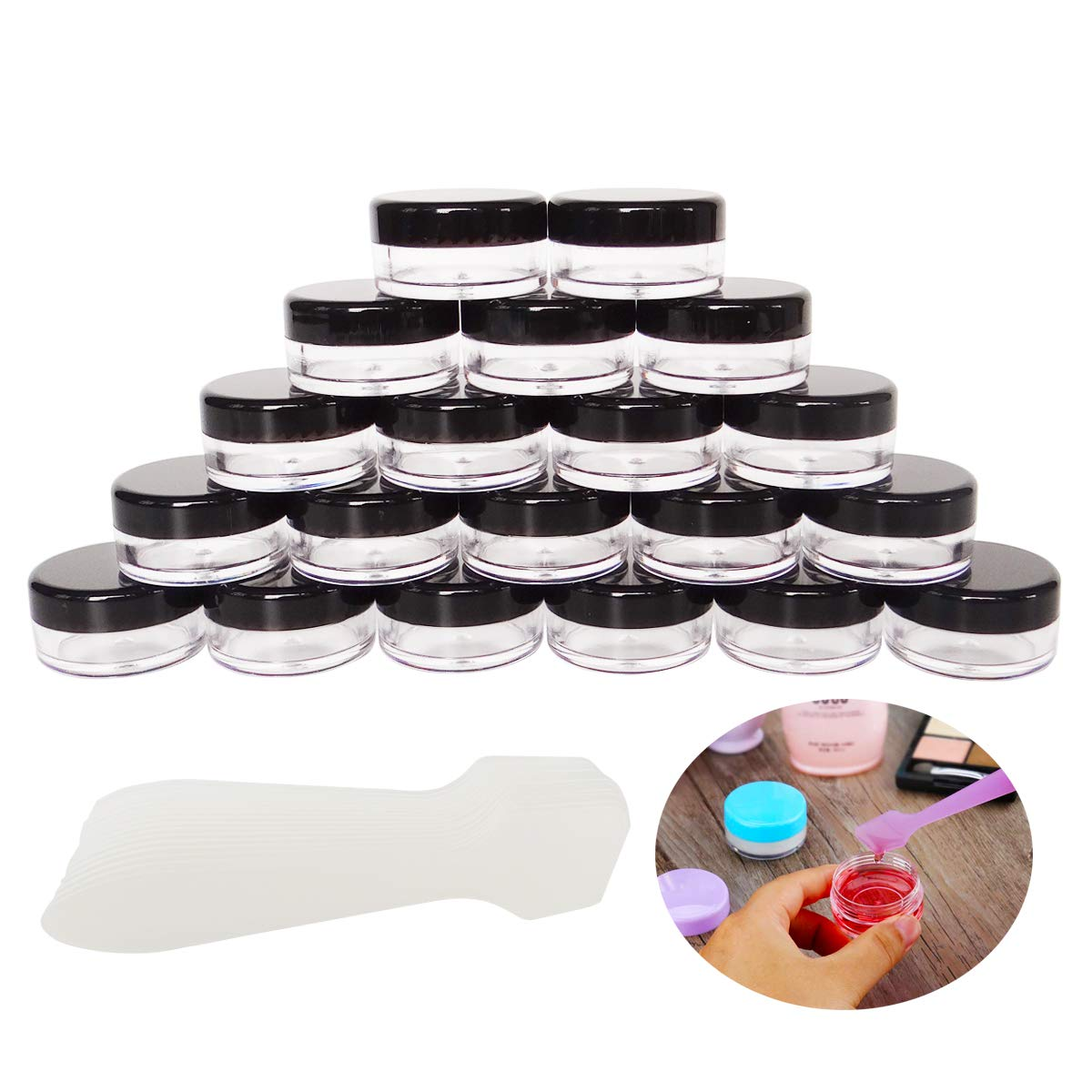 GreatforU online shop 20 Pack 5g Makeup Ranking TOP9 Sample Small Jars Cosmeti Empty 5ml