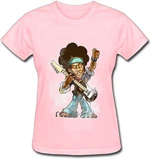 Duanfu Jimi Hendrix Women's Cotton Short Sleeve T-Shirt