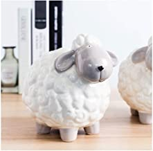 Modern Minimalist Style Creative Home Personality Bedroom Room Small Display Small Sheep Ceramic Piggy Bank