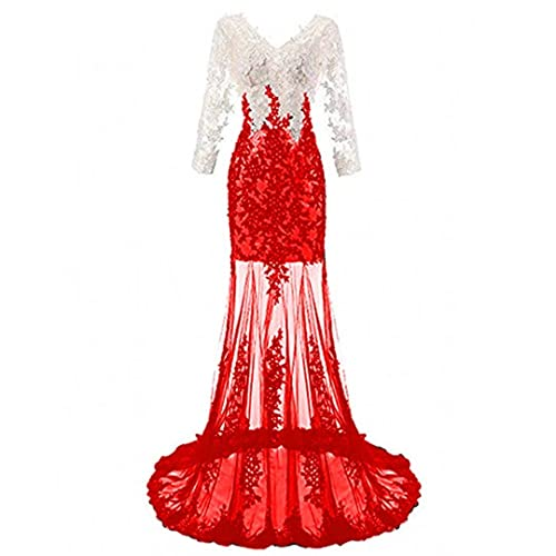 Prom Dresses 2018 Mermaid Long Sleeve Lace Amazon