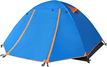 TFO Backpacking 2 Person Tent Lightweight Waterproof Rainfly & Floor with 2 Doors Easy Set up for 3 Season Outdoor Camping & Expedition