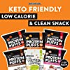 Shrewd Food Protein Puffs, Low-Carb, Keto-Friendly Snacks, Healthy Snacks, Gluten-Free, Soy-Free, Peanut-Free, Six Delicious Crunchy Flavors, Variety Pack of 12 Individual Servings #1