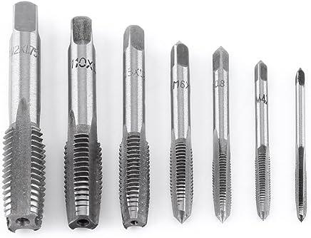 7pcs Metric Thread Tap Steel Threading Tapping Tool M3 M4 M5 M6 M8 M10 M12