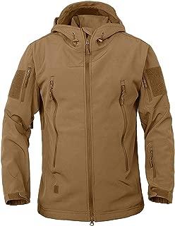 TACVASEN Men's Military Softshell Tactical Jacket Hooded Fleece Coat