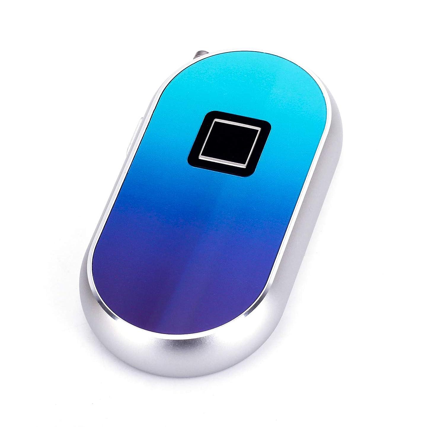 ROYAL DEFENDER Fingerprint Lock 0.5s Touch Unlock Smart Biometric Lock Keyless Padlock 85db Loud alarm Anti-theft Luggage Cable Lock,suitable for Backpack Handbag Suitcase (Blue)
