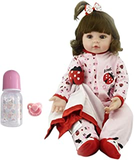 Handmade Reborn Dolls 18''48cm Cute Girl Realistic Lifelike Looks Real Baby Newborn Doll Soft Silicone Vinyl Crafted Toddler Toy for Children Kids Xmas Birthday Gift