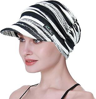 Sombreros Suaves para Mujeres Chemo Gorra de béisbol de bambú Turbantes de pérdida de Cabello