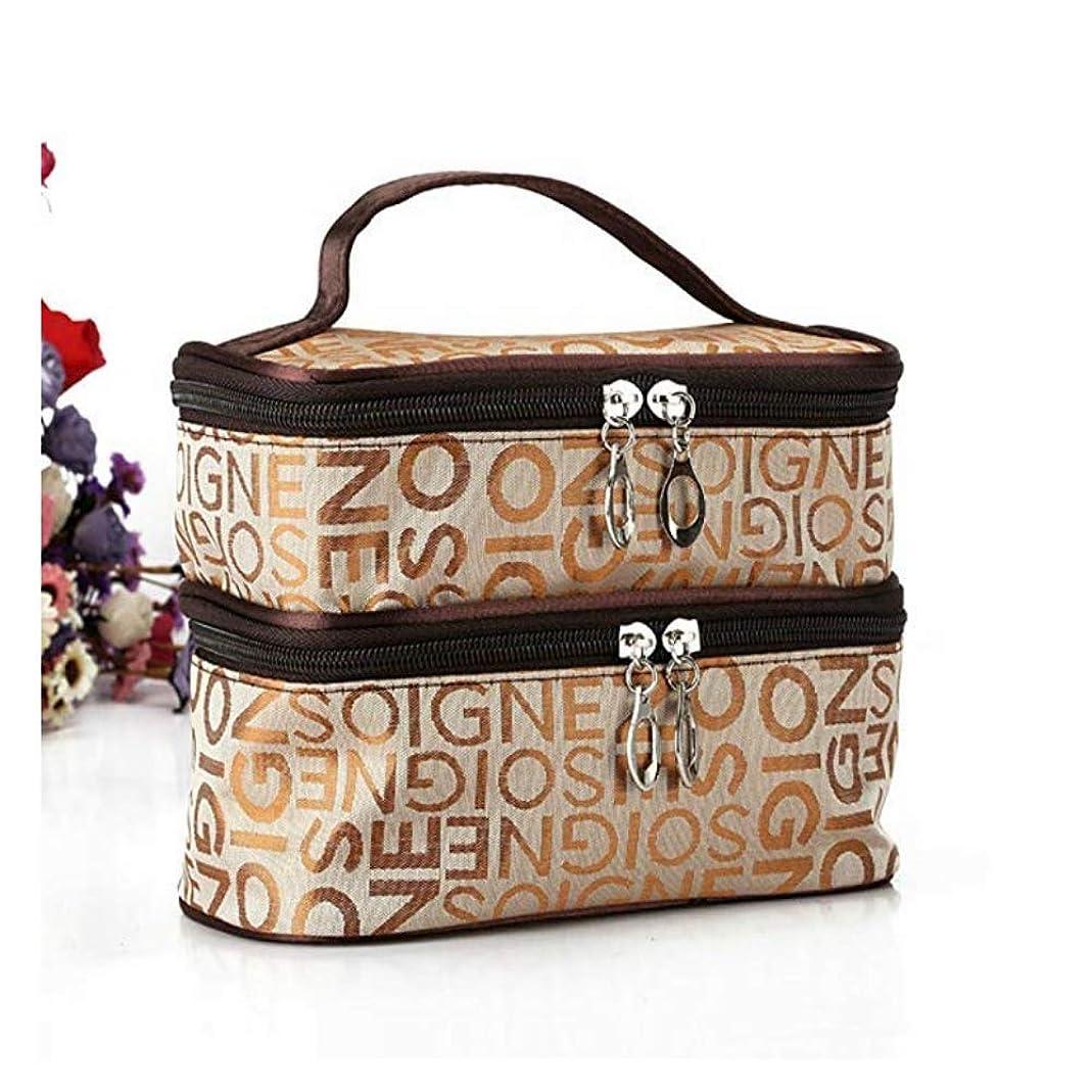 テスピアン破壊的アジテーションポータブル旅行ダブルワード印刷化粧品化粧品袋収納多機能包装 (1#)