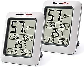 ThermoPro TP50 2 Piezas Termómetro Higrómetro Digital