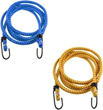Superior High Strength Stretchable Elastic Ropewith Hook (Size: 6 ft Assorted Colour) - 2Pieces