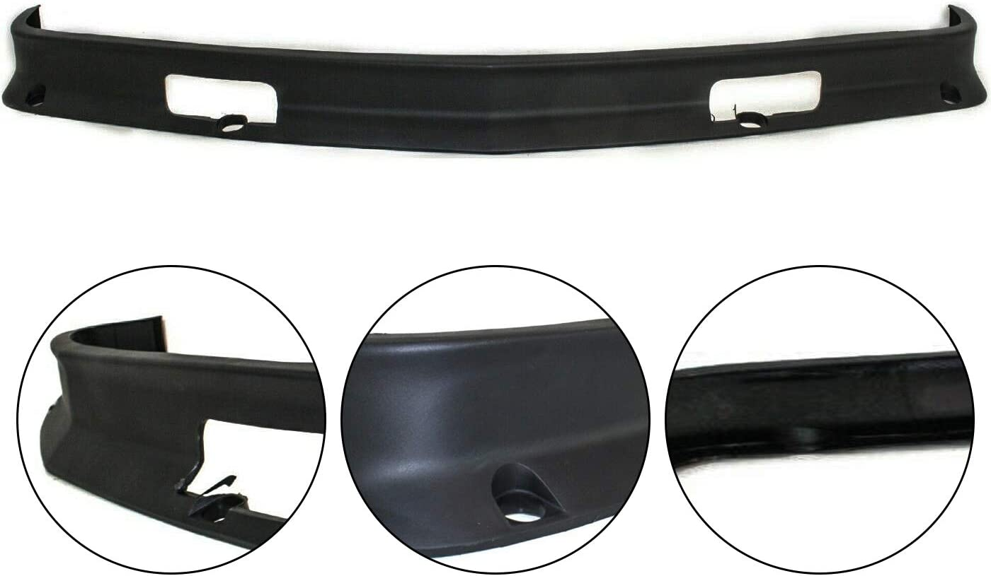CAPA Plastic For Chevy K1500 // K2500 // K3500 Valance 1988-1998 Front Lower GM1090105 Primed 15569430 Air Deflector w//Tow Hook Holes