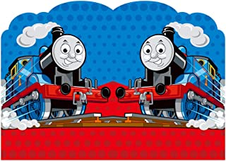 Vinyl Backdrop for Photography 7x5 Polka Dots Cartoon Train Photo Background Birthday for Kids Personalized Name Photographic Backgrounds Backdrops