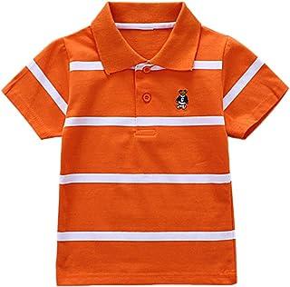 1288dee81 BOBORA Toddler Kids Boys Summer Short Sleeve Striped Tee T-Shirt Polo Shirts  2-