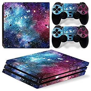 PS4 Pro Whole Body Vinyl Skin Sticker Decal Cover for Playstation 4 Pro System Console and Controllers – Starry Galaxy