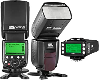 PIXEL TTL 1/8000S 2.4GHz Wireless Flash Speedlite kit X800 2PCS+King PRO Flash Trigger Remote Controller for Canon EOS DLSR Cameras