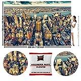 GREAT ART Fototapete New York City Skyline 336 x 238 cm – Amerika USA Big Apple Ausblick Penthouse Wolkenkratzer Wandtapete