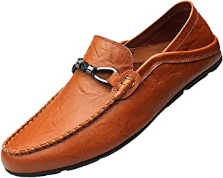Men's Leather Casual Slip-on Loafer Driving Shoes
