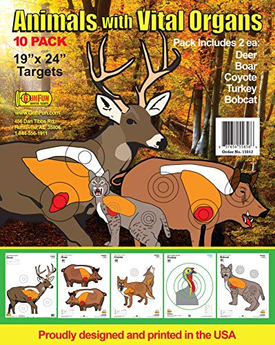 paper animal archery targets - 1