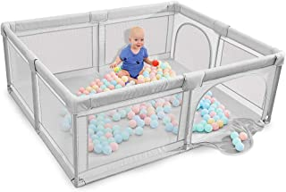 Baby playpen, Playpens for Babies, Kids Safety Play Center Yard, Extra Large Indoor Outdoor Toddler Infant Playard with Ga...