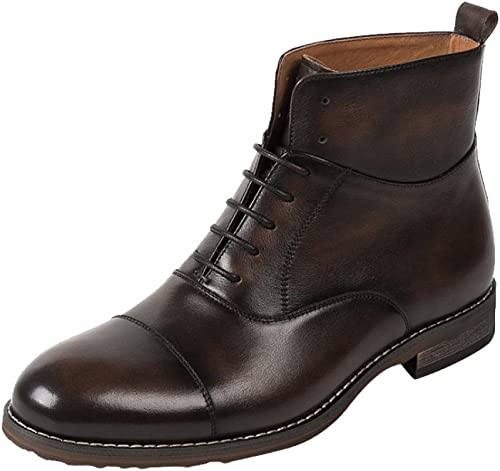 Calzado De Hombre Bota Alta Martin Stiefel Casual Inglaterra Stiefel De Cuero con Cremallera
