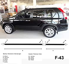 Spangenberg Listones de protección Lateral, Color Negro, para Nissan X-Trail II T31 SUV Combi año de construcción 03.2008 – 11.2013 F43 (370004302)