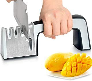 Professional Knife Sharpener Non-slip Base Sharpening is Easy to Control Ergonomically Designed for All Sizes of Household Knives Fast, Safe and Easy to Use Sharpener