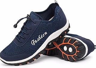 [QIFENGDIANZI] ハイキング 登山靴 トレッキングシューズ ブラック メンズ 24.0-27.0CM スニーカー ウォーキング アウトドア メッシュ 通気性抜群 防水性 耐磨耗 クッション性 滑り止め カジュアル スポーツ ブルー ダークブルー