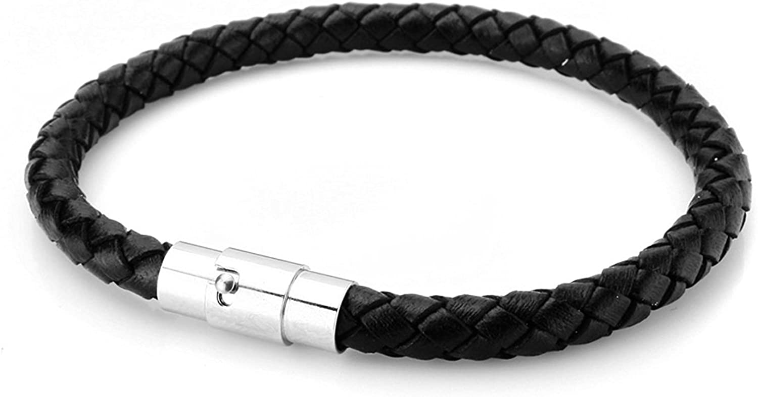 Max 44% OFF JewelrieShop Braided Leather Bracelet for Women Courier shipping free shipping Mens Wrap Woven