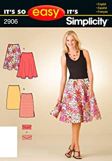 Simplicity Sewing Pattern 2906 It's So Easy Misses Skirts and Purse, A (8-10-12-14-16-18)