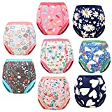 8 Packs Toddler Training Underwear for Boy and Girls Strong Absorbent Cotton Training Pants for Baby Potty Training 2T Pink