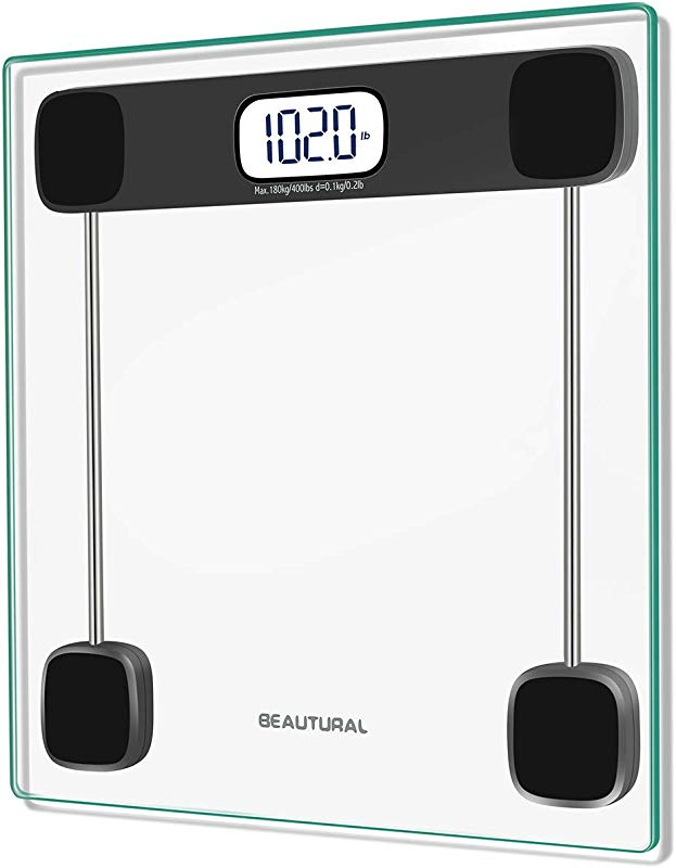 Beautural Precision Digital Body Weight Bathroom Scale With Lighted Display Step On Technology 400 Lb