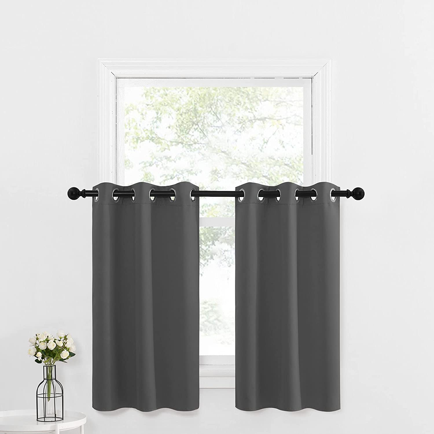 NICETOWN Kitchen Window Treatment Fresno Mall Curtains depot H Insulated Thermal -