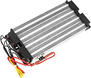 PTC Air Heater, 9.1X4X1Inch Energy-Saving Ripple Heater, 2000W Multipurpose AC 220V Electric Heater for Solid And Gas Air ...