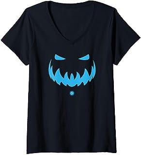 Mujer SSC Napoli Halloween Calabaza Camiseta Cuello V